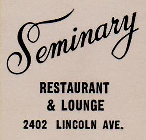 SEMINARY CHICAGO / JOHN DILLINGER