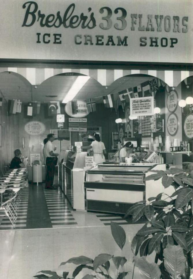 Bresler's 33 Flavors Ice Cream / Multiple Chicagoland area locations  (1927-1987)