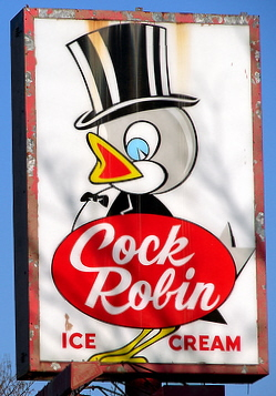 Cock Robin Ice Cream / Multiple Chicagoland area locations (196?-2007)