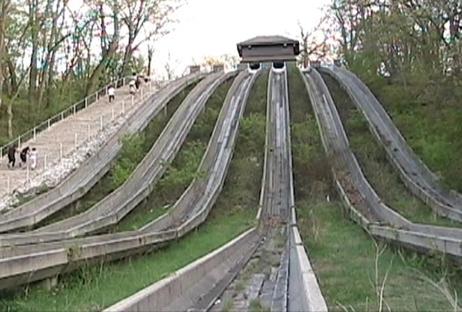 Swallow Cliff Toboggan Slides / Palos Park, IL.  (193?-2004)