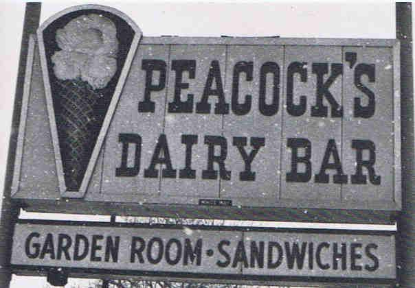 Peacock's dairy bar ice cream