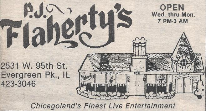 P.J. Flaherty's / 2531 W. 95th St. Evergreen Park, IL.
